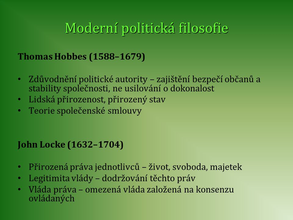 Moderní politická filosofie