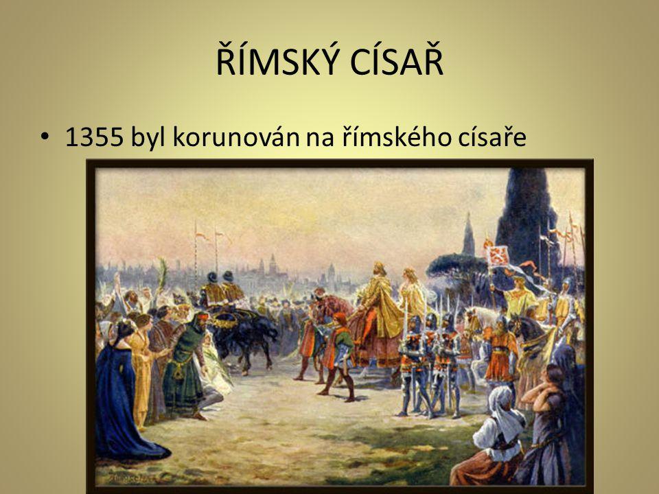 ŘÍMSKÝ CÍSAŘ 1355 byl korunován na římského císaře