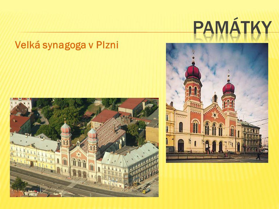památky Velká synagoga v Plzni
