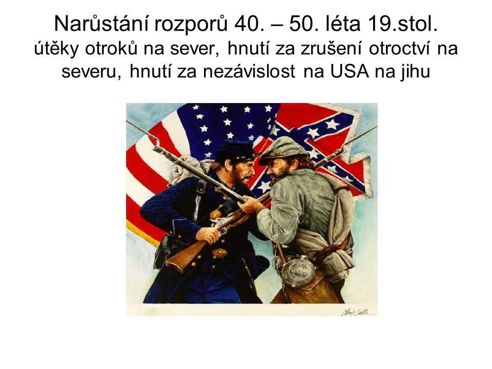 Narůstání rozporů 40. – 50. léta 19. stol