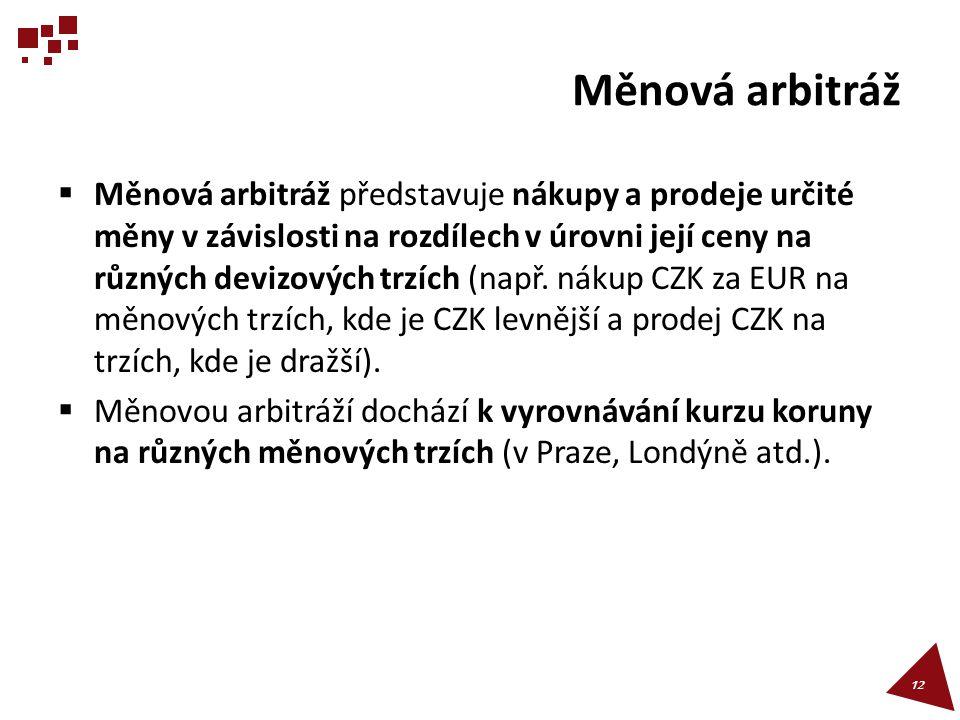 Měnová arbitráž