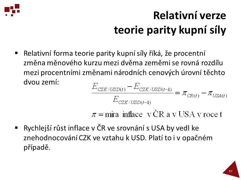 Relativní verze teorie parity kupní síly