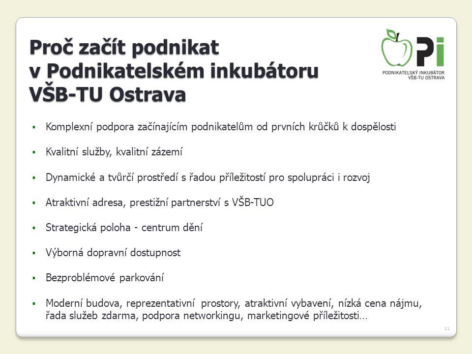 Proč začít podnikat v Podnikatelském inkubátoru VŠB-TU Ostrava