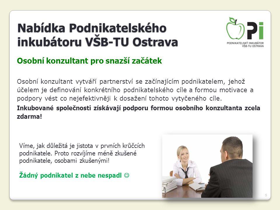 Nabídka Podnikatelského inkubátoru VŠB-TU Ostrava