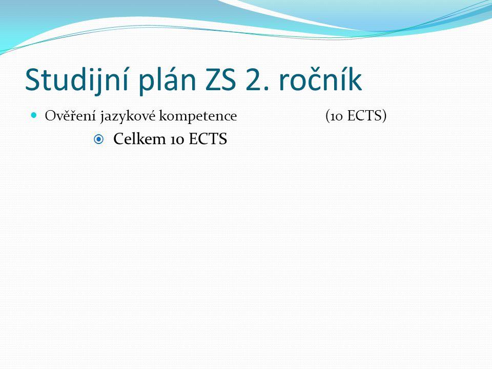 Studijní plán ZS 2. ročník