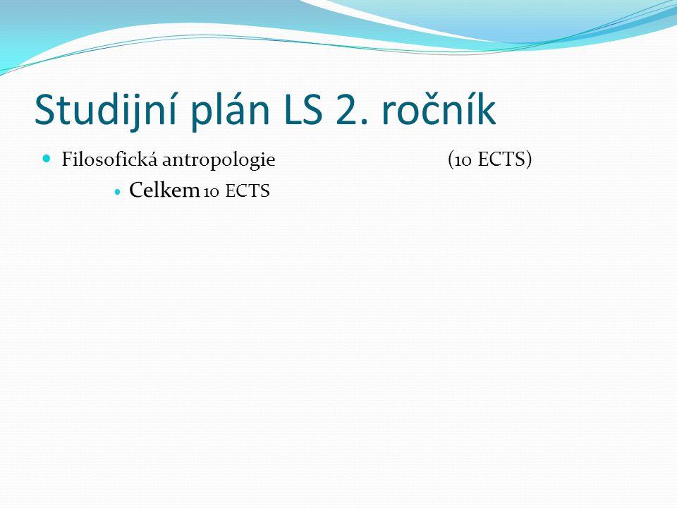Studijní plán LS 2. ročník