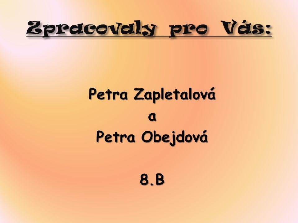 Petra Zapletalová a Petra Obejdová 8.B