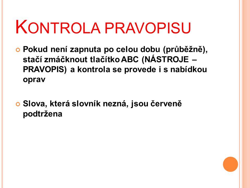 Kontrola pravopisu