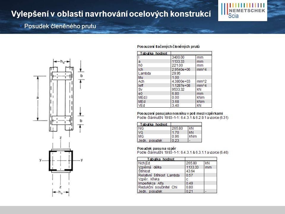 Vylepšení v oblasti navrhování ocelových konstrukcí