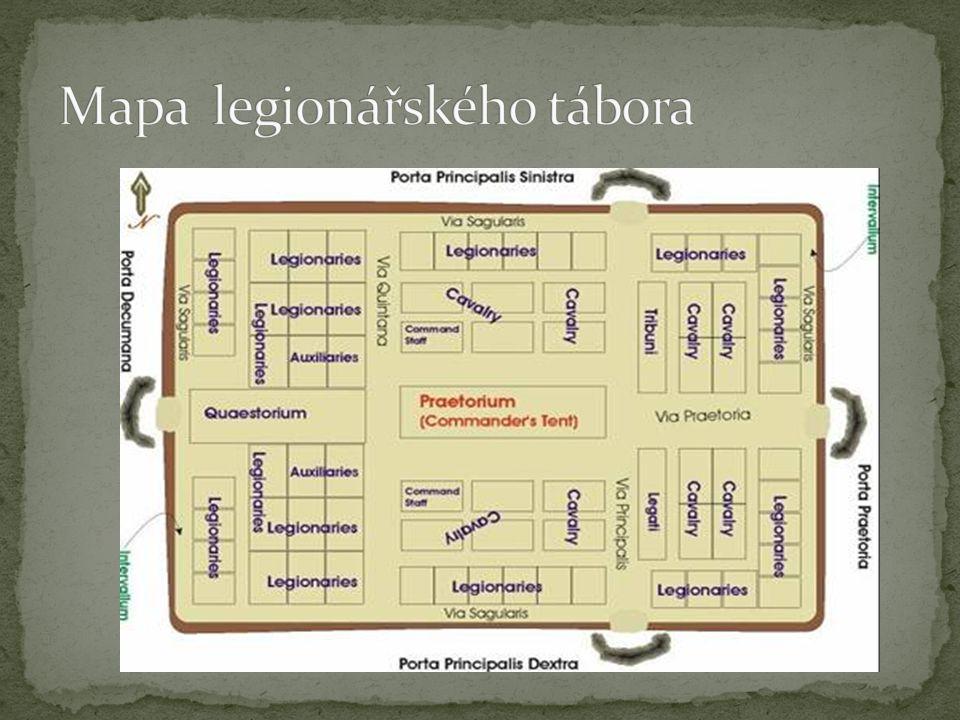 Mapa legionářského tábora