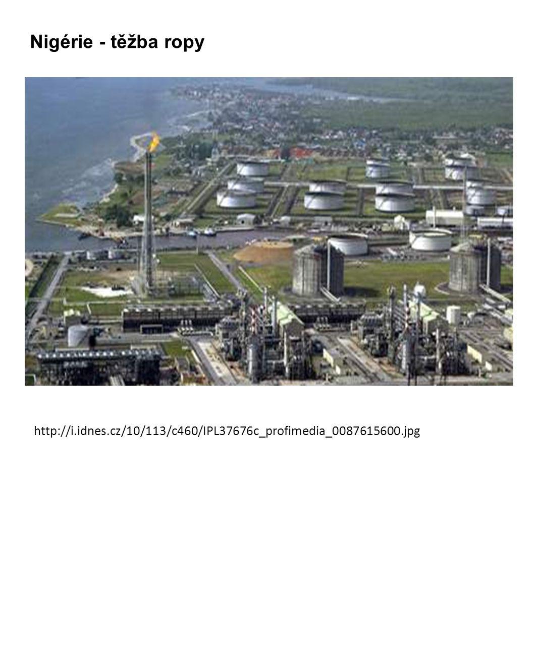 Nigérie - těžba ropy http://i.idnes.cz/10/113/c460/IPL37676c_profimedia_0087615600.jpg