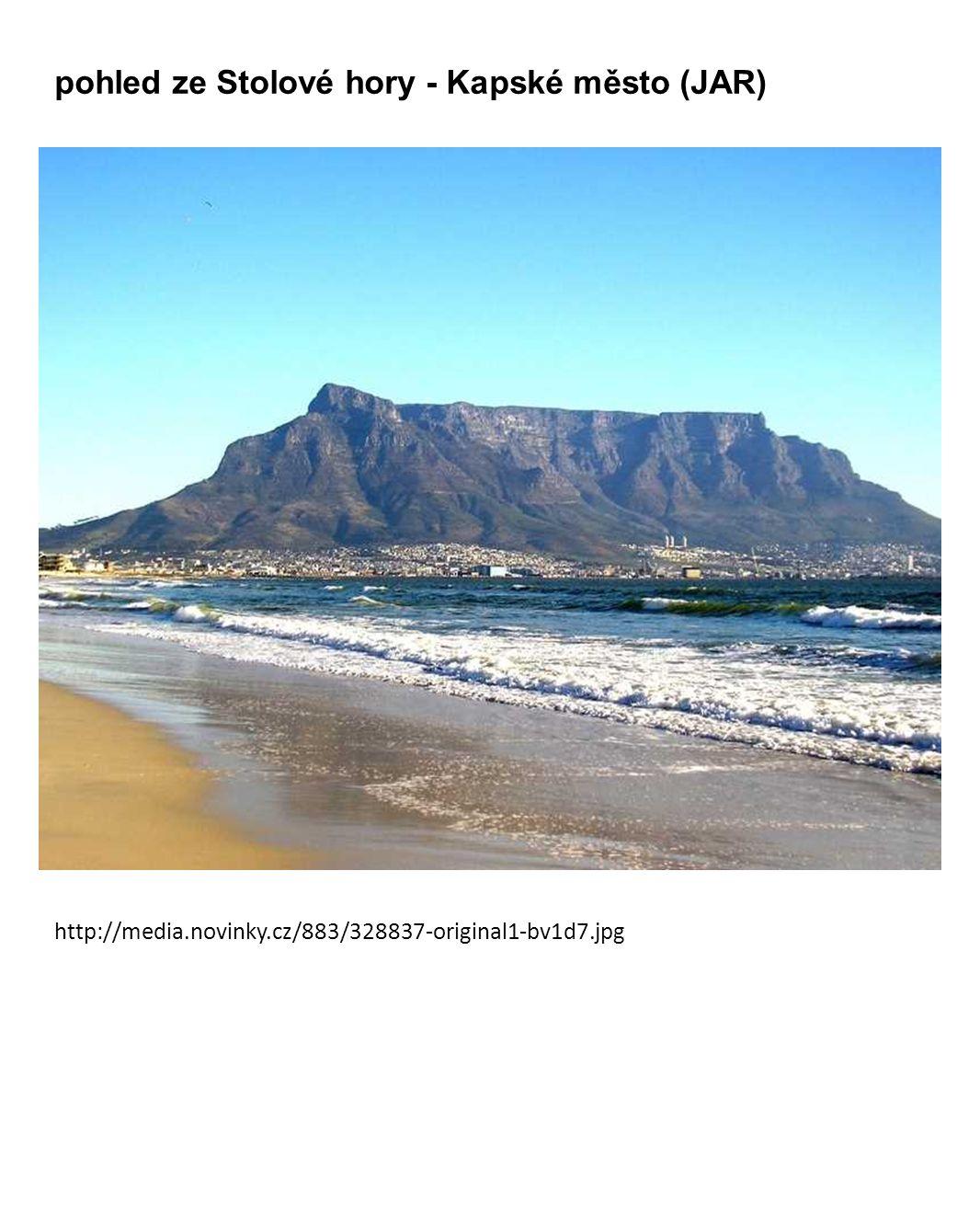 pohled ze Stolové hory - Kapské město (JAR)