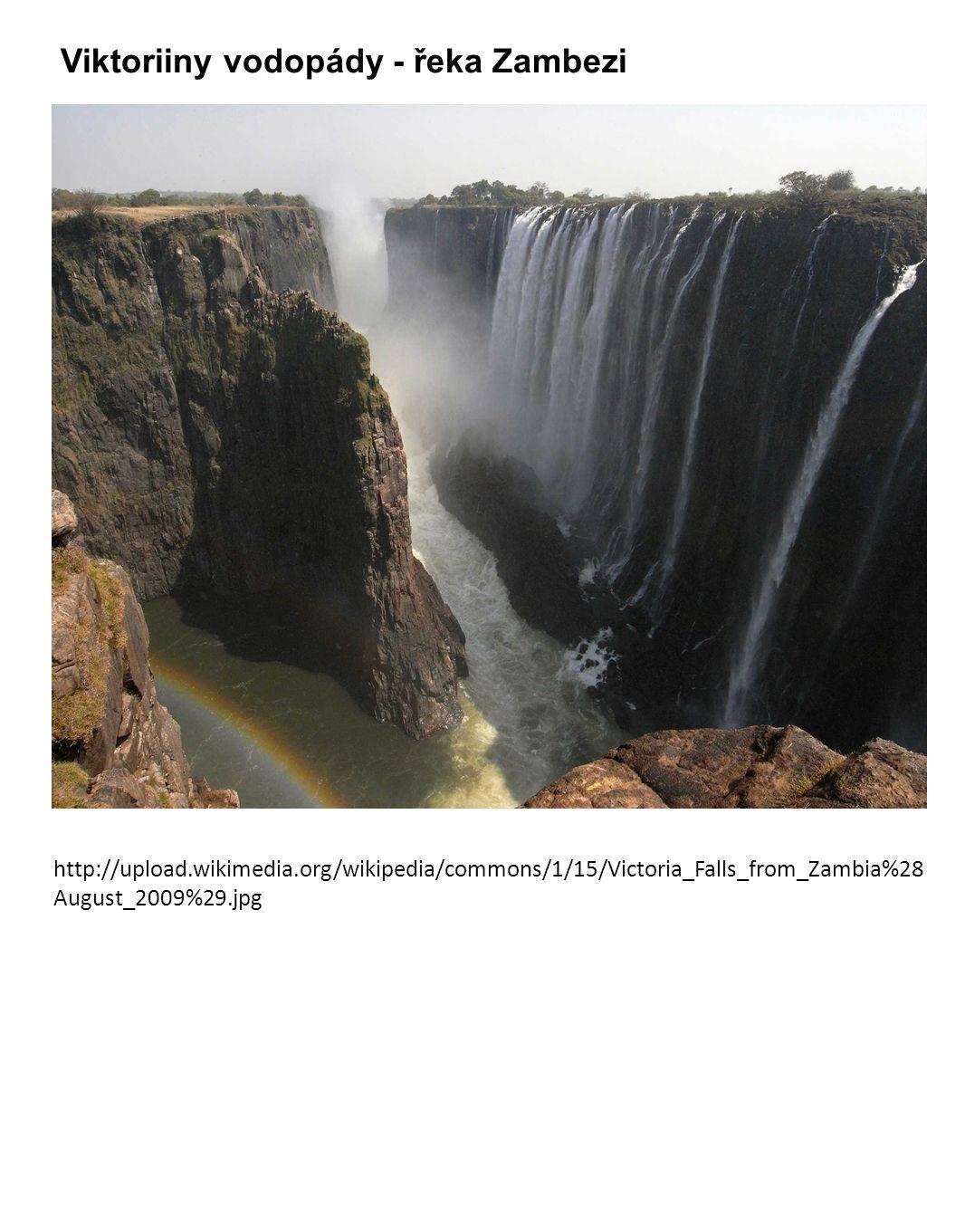 Viktoriiny vodopády - řeka Zambezi