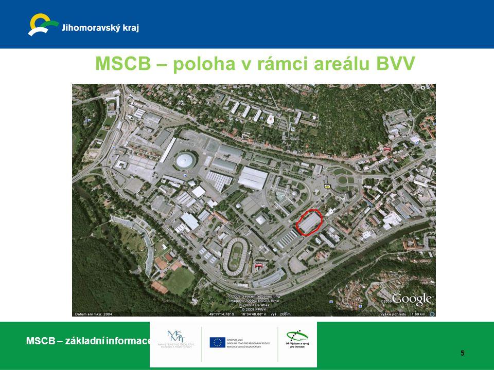 MSCB – poloha v rámci areálu BVV
