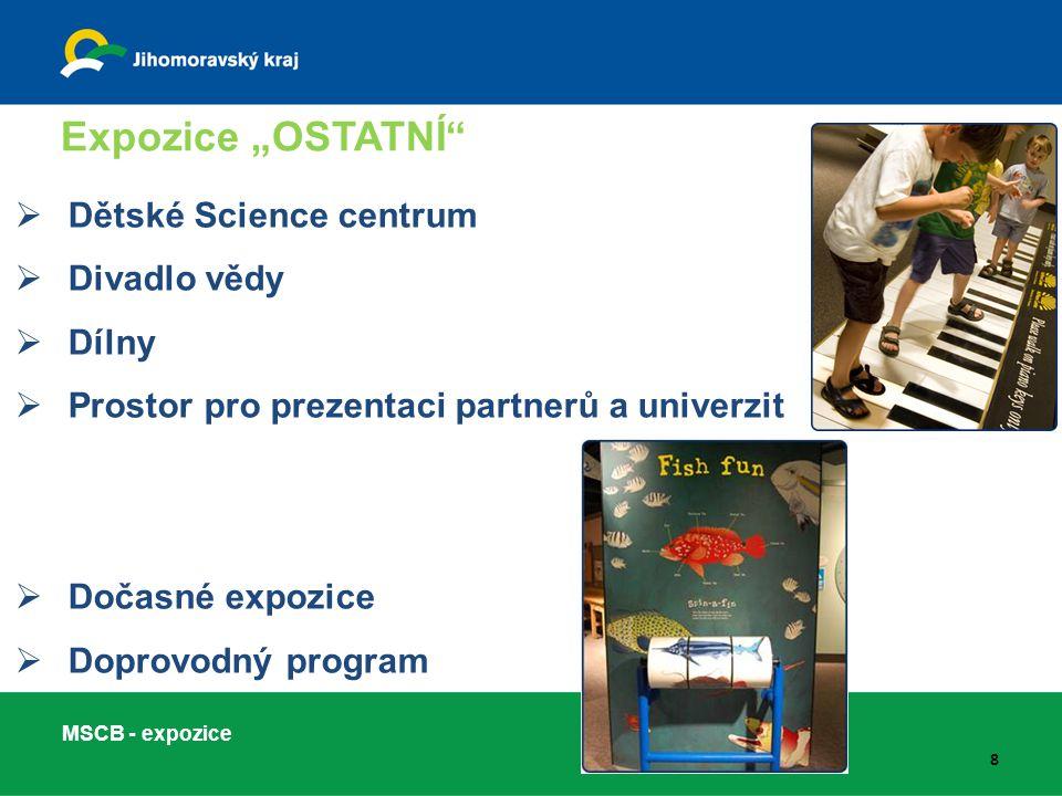 """Expozice """"OSTATNÍ Dětské Science centrum Divadlo vědy Dílny"""