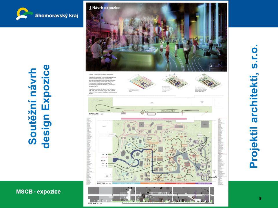 Projektil architekti, s.r.o. Soutěžní návrh design Expozice