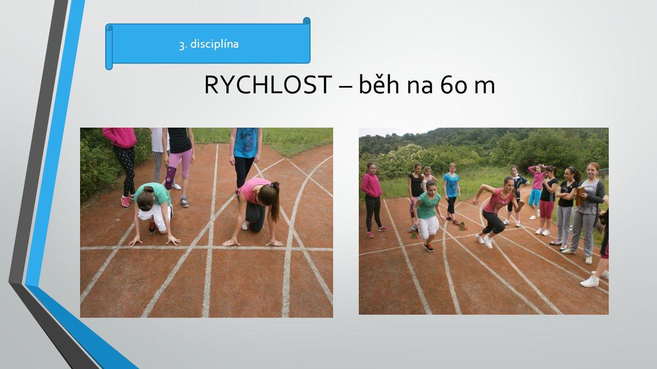 3. disciplína RYCHLOST – běh na 60 m