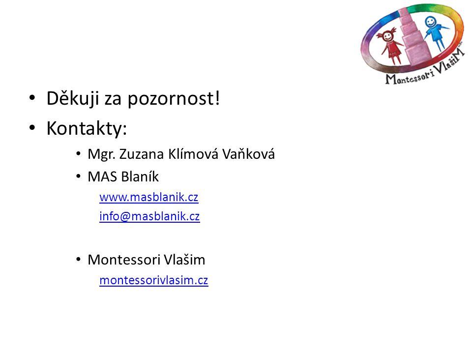 Děkuji za pozornost! Kontakty: Mgr. Zuzana Klímová Vaňková MAS Blaník