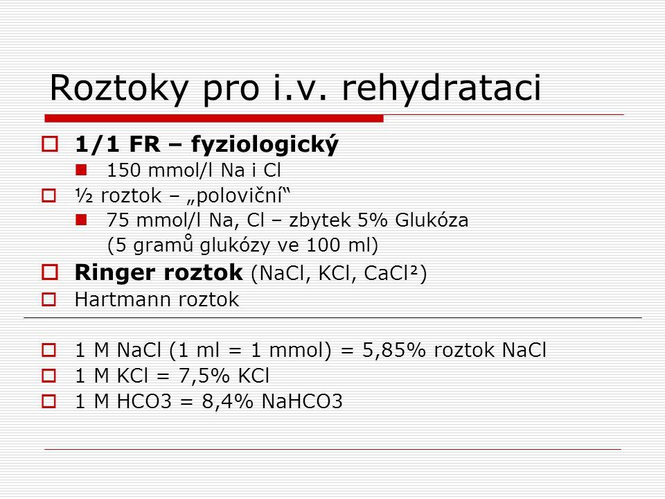 Roztoky pro i.v. rehydrataci