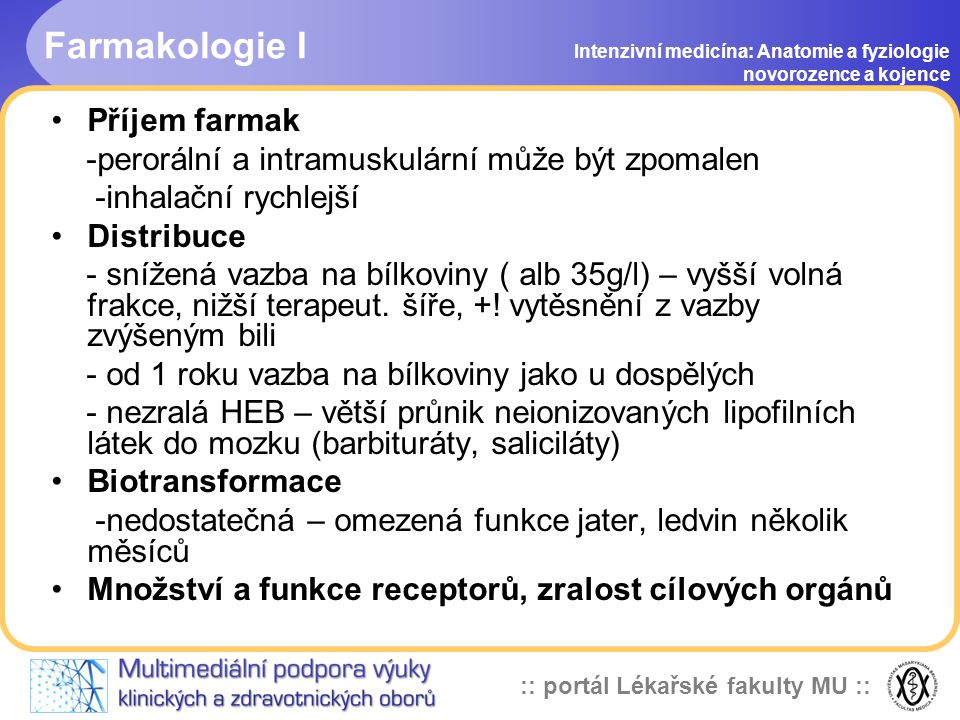 Farmakologie I Příjem farmak