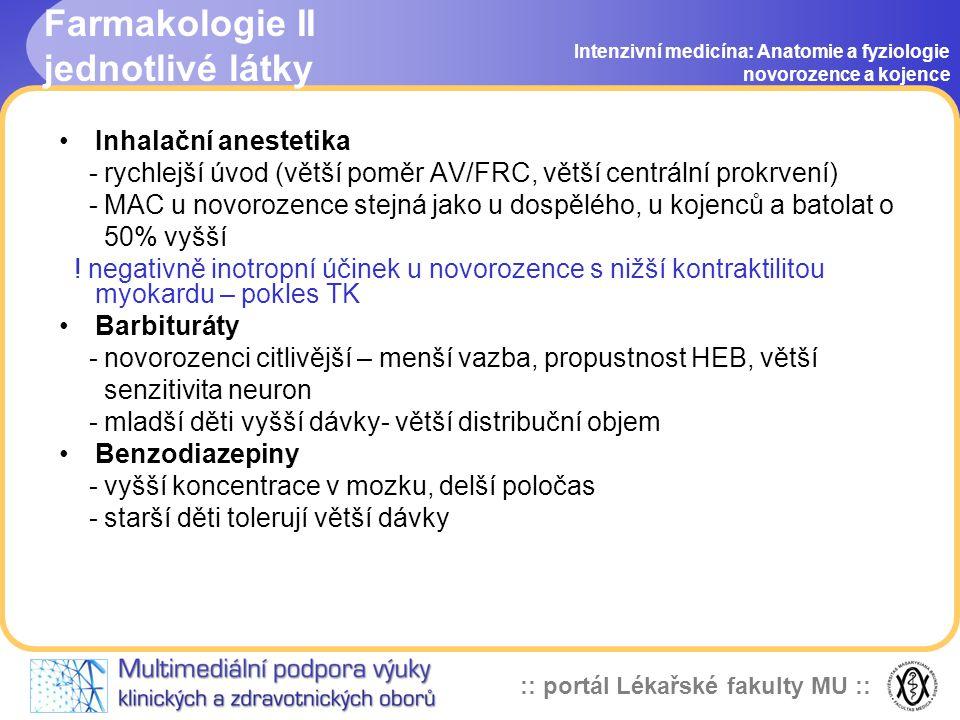 Farmakologie II jednotlivé látky