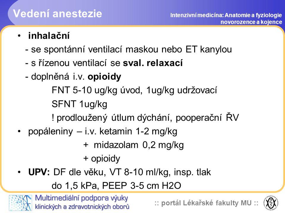 Vedení anestezie inhalační