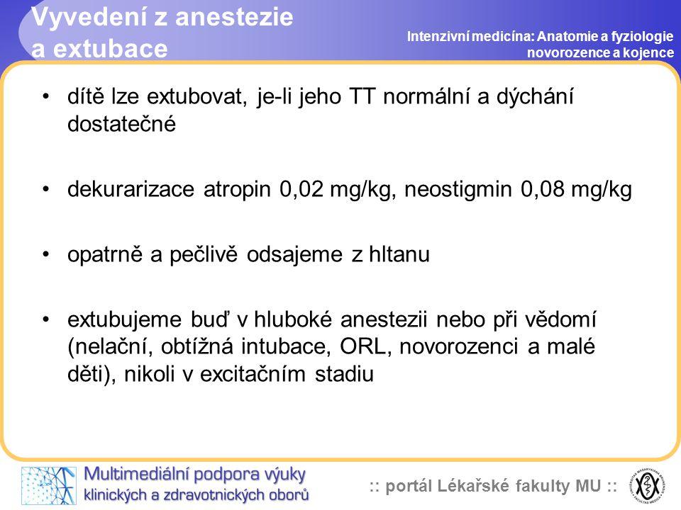 Vyvedení z anestezie a extubace