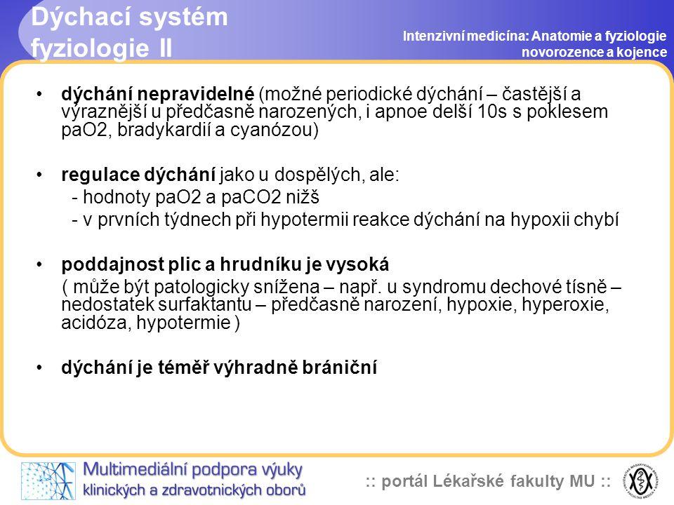 Dýchací systém fyziologie II
