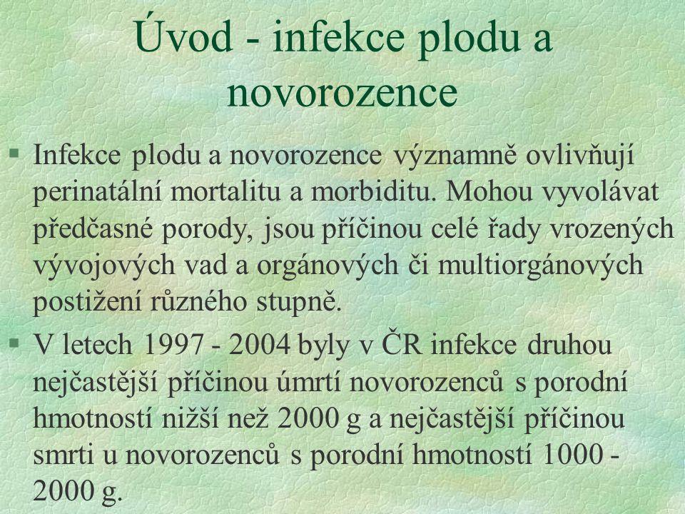 Úvod - infekce plodu a novorozence