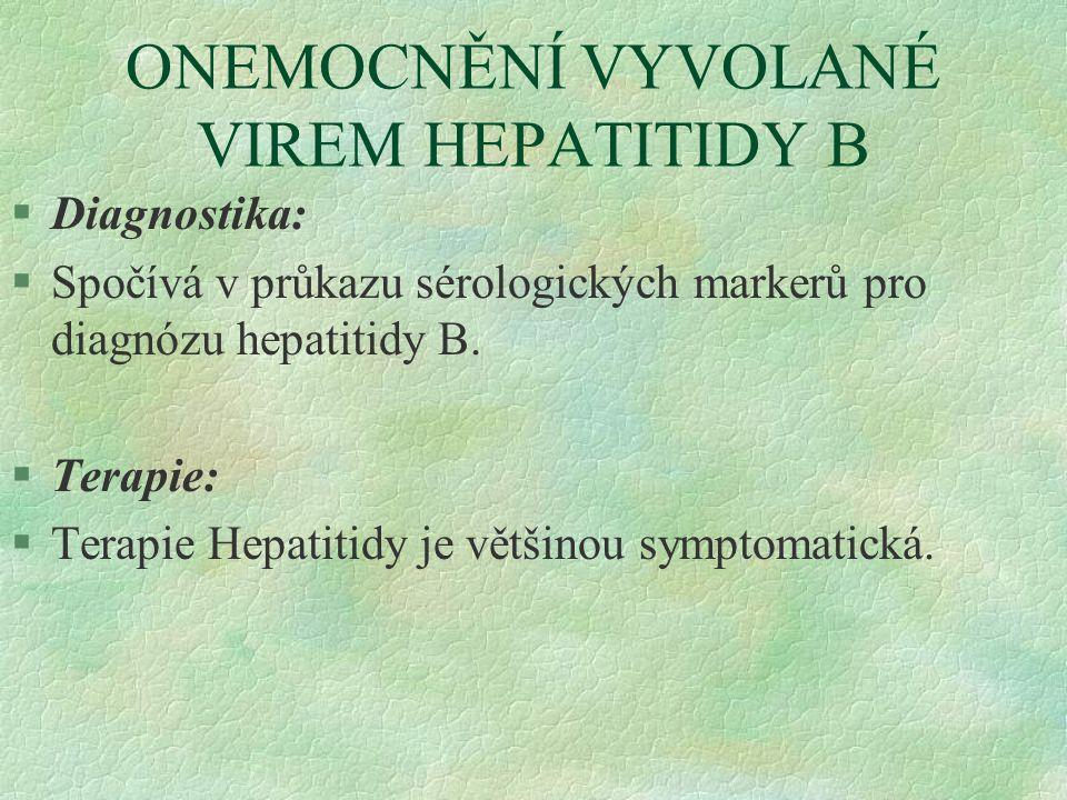 ONEMOCNĚNÍ VYVOLANÉ VIREM HEPATITIDY B