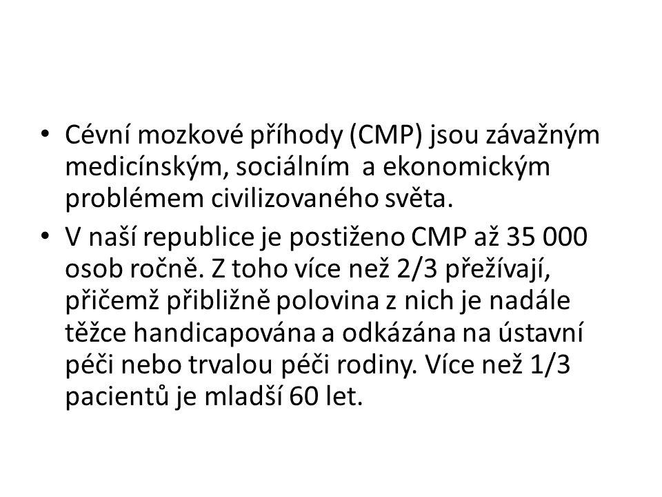 Cévní mozkové příhody (CMP) jsou závažným medicínským, sociálním a ekonomickým problémem civilizovaného světa.