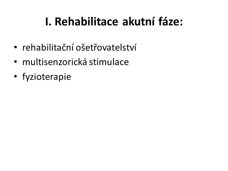 I. Rehabilitace akutní fáze: