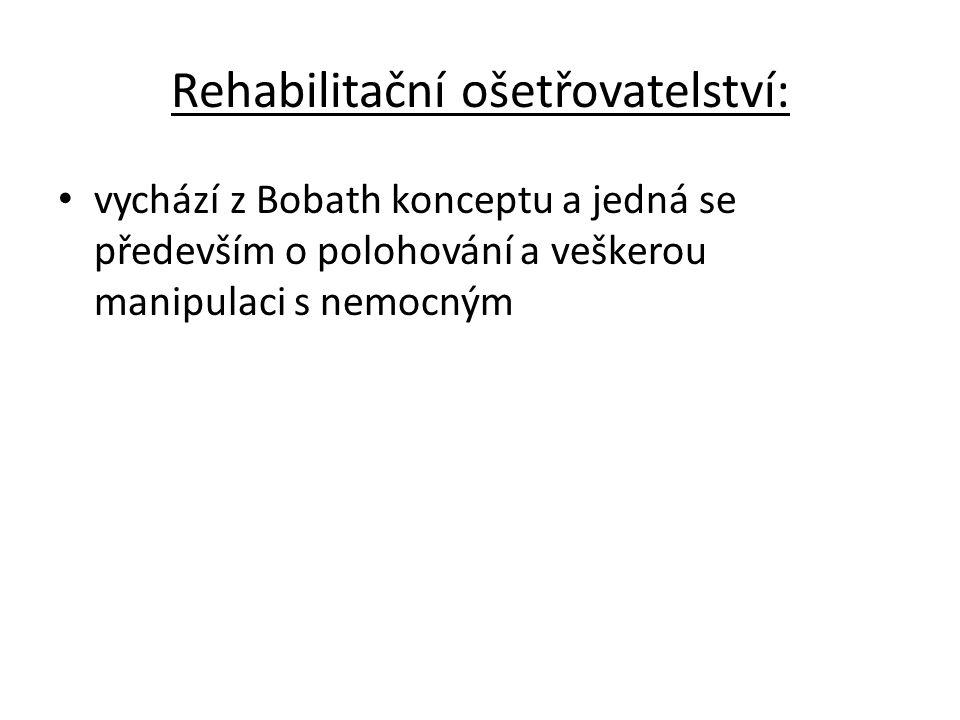 Rehabilitační ošetřovatelství: