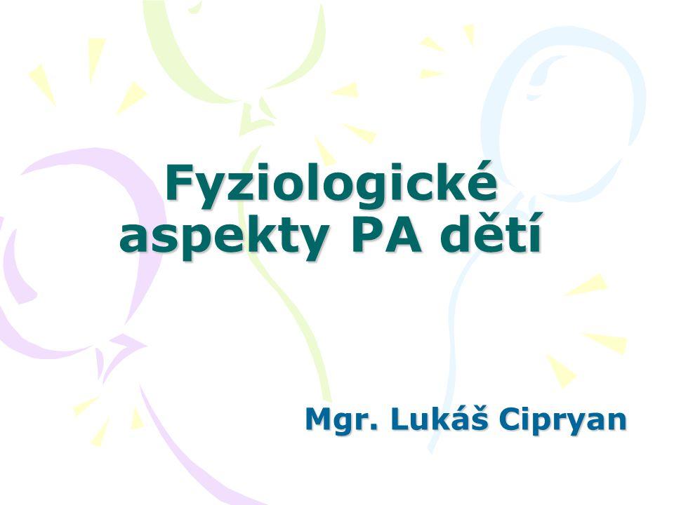 Fyziologické aspekty PA dětí