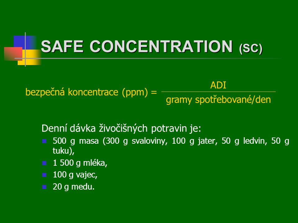 SAFE CONCENTRATION (SC)