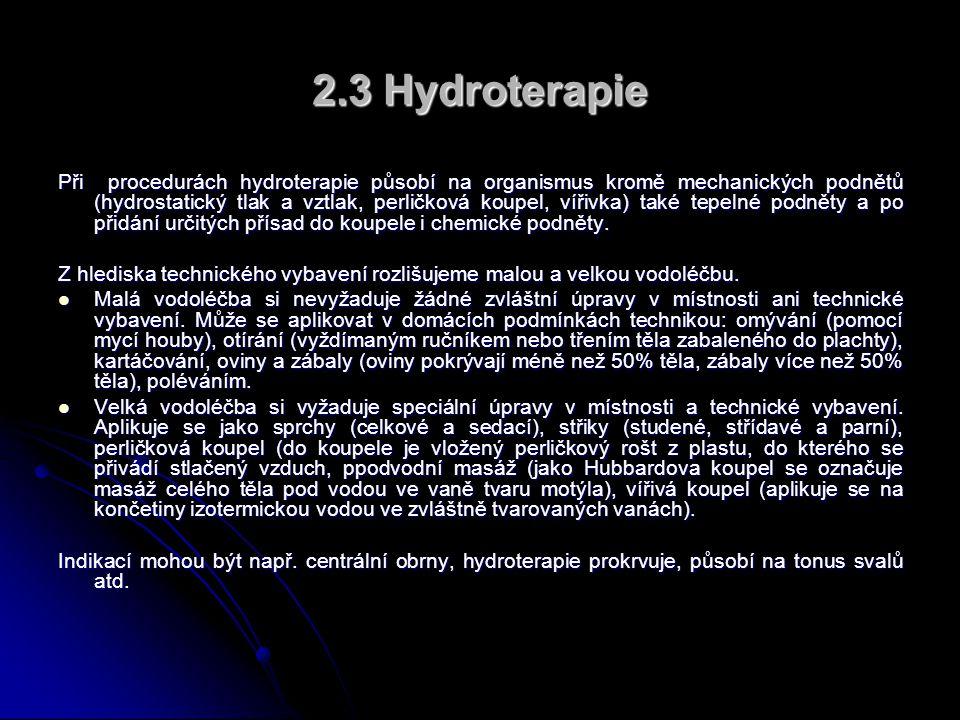 2.3 Hydroterapie