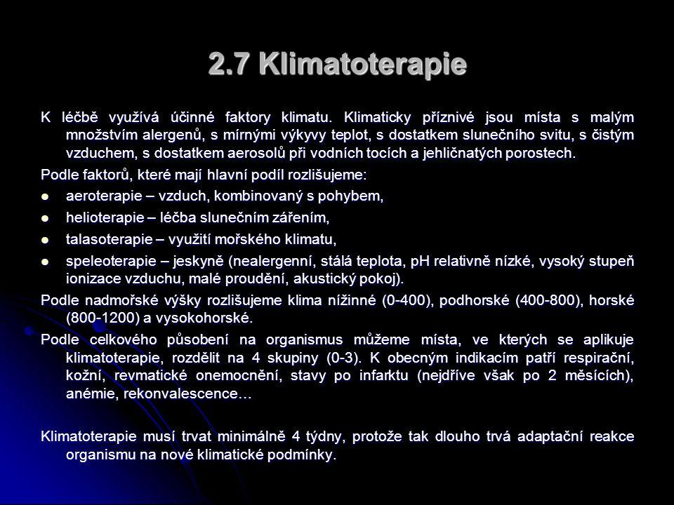 2.7 Klimatoterapie