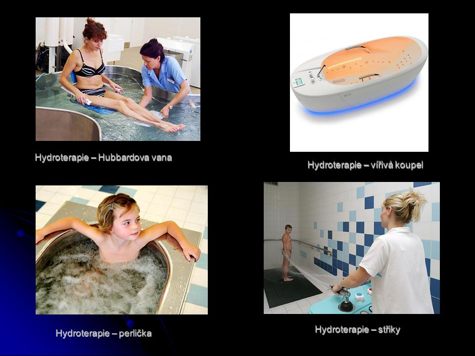 Hydroterapie – Hubbardova vana Hydroterapie – vířivá koupel