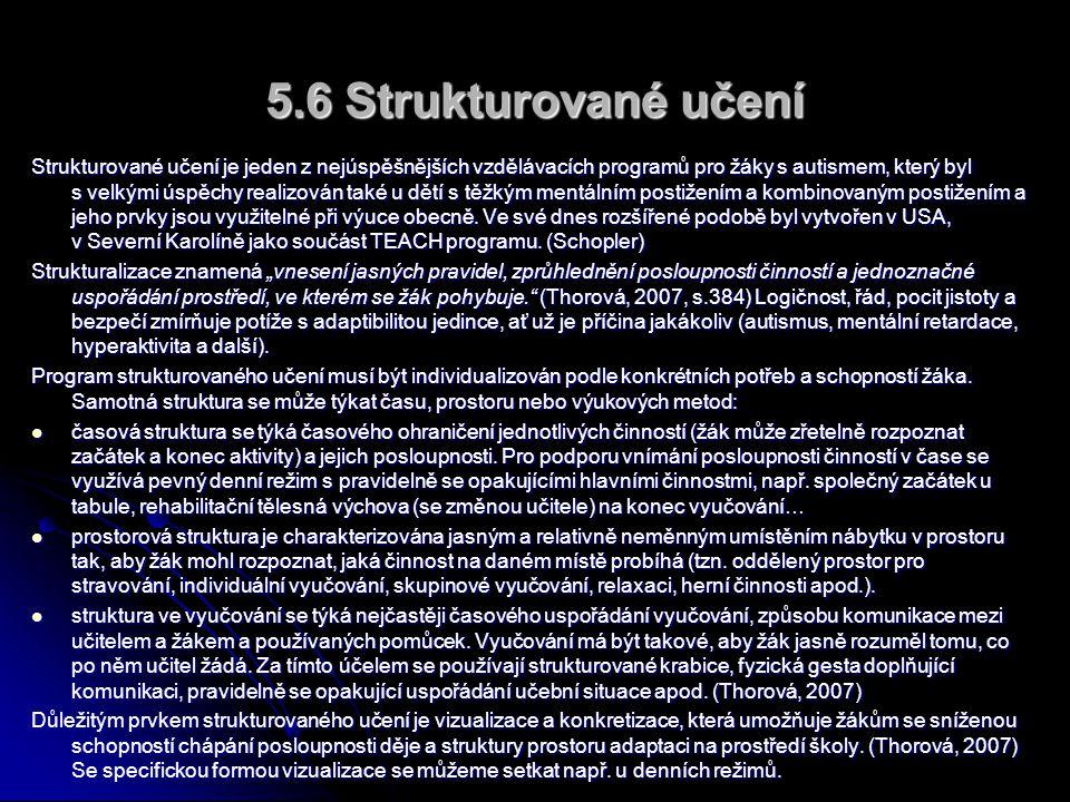 5.6 Strukturované učení