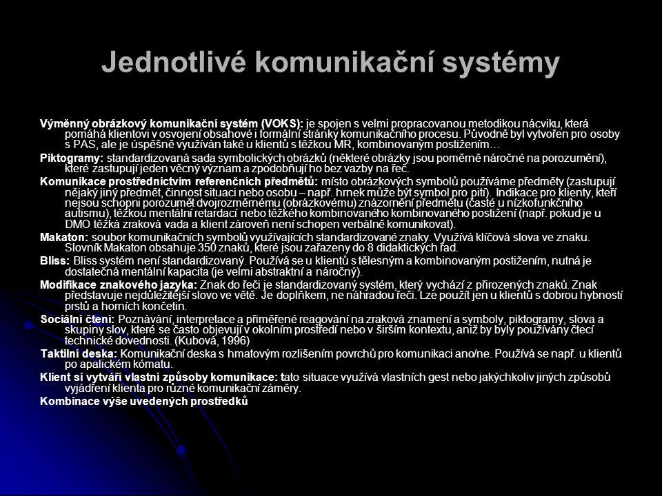 Jednotlivé komunikační systémy