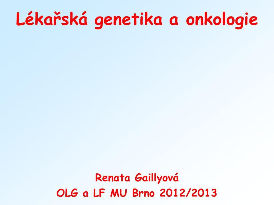 Lékařská genetika a onkologie
