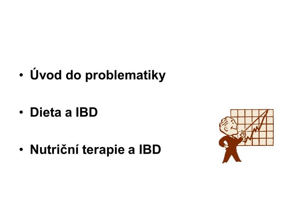 Úvod do problematiky Dieta a IBD Nutriční terapie a IBD