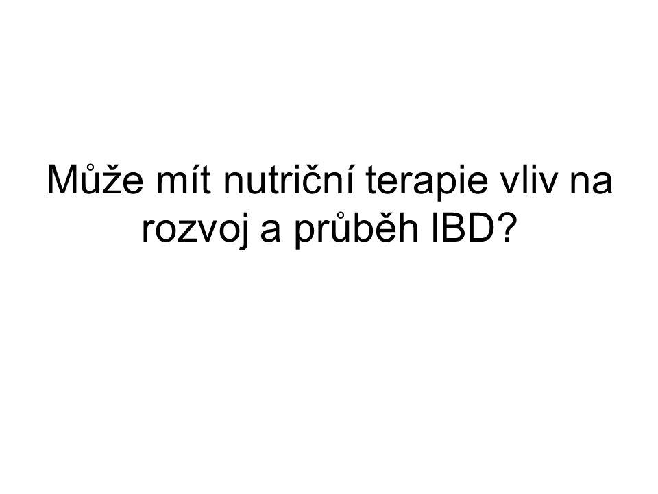 Může mít nutriční terapie vliv na rozvoj a průběh IBD