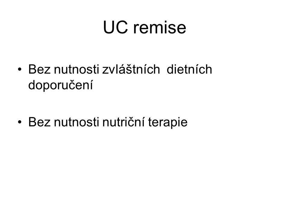 UC remise Bez nutnosti zvláštních dietních doporučení