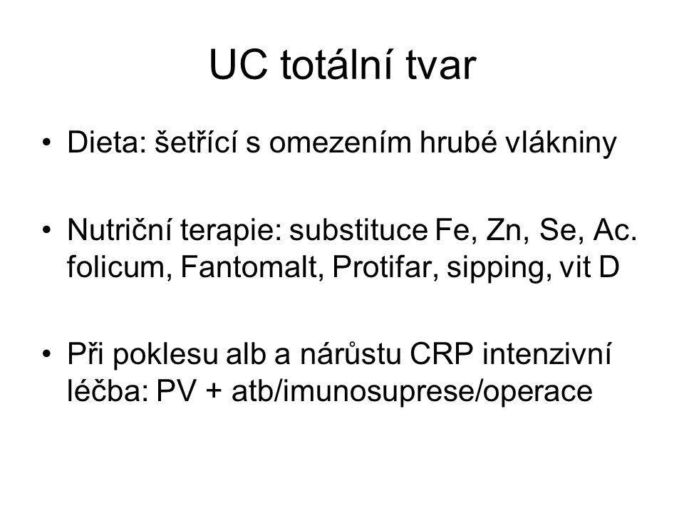 UC totální tvar Dieta: šetřící s omezením hrubé vlákniny