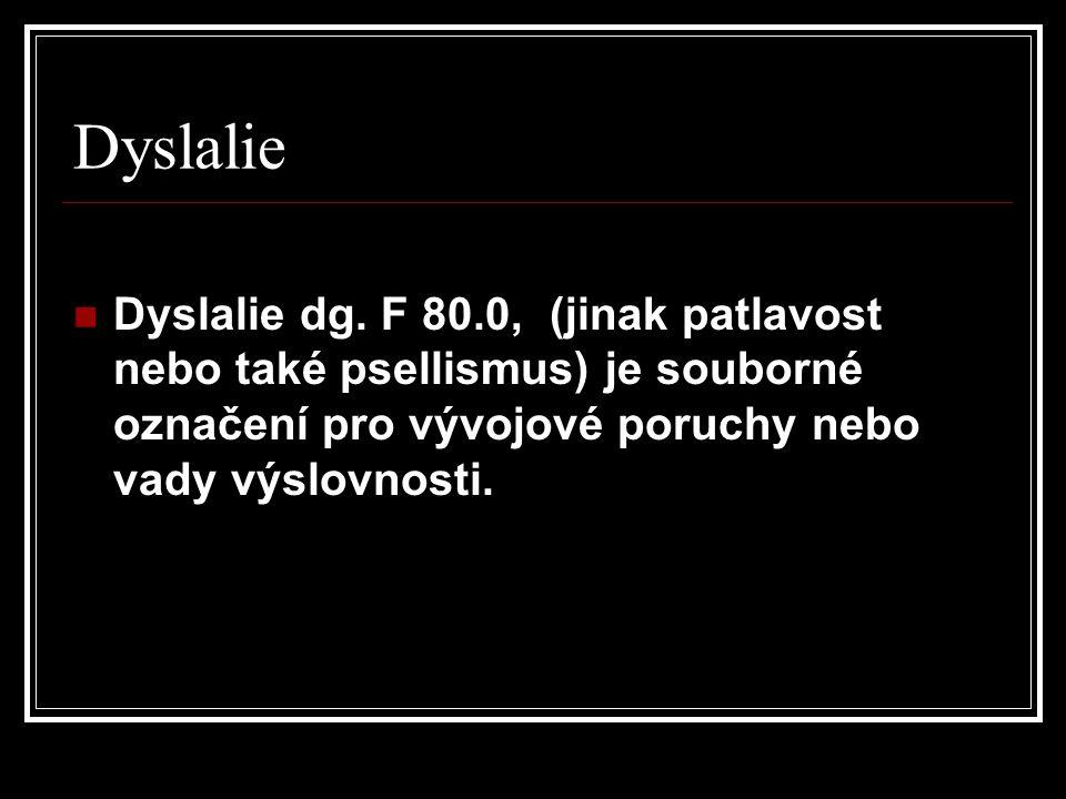 Dyslalie Dyslalie dg.