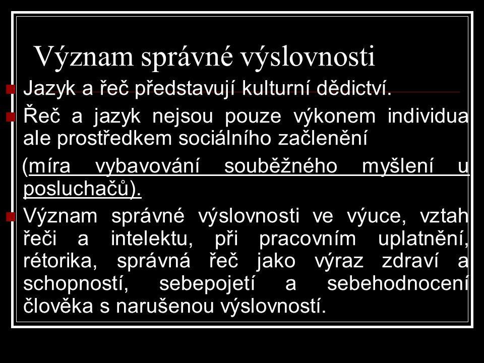 Význam správné výslovnosti