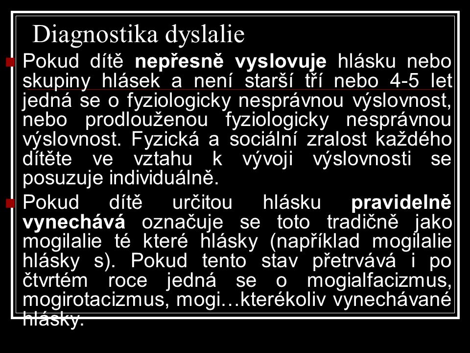 Diagnostika dyslalie
