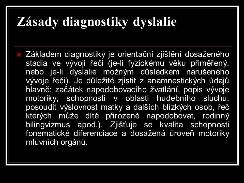 Zásady diagnostiky dyslalie