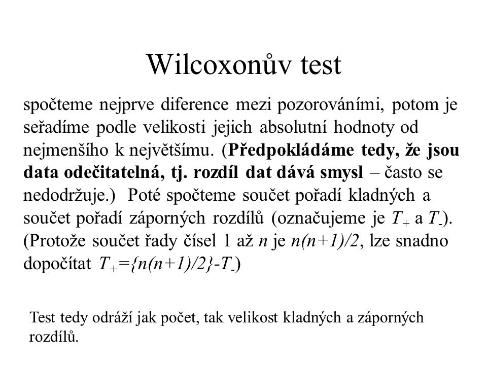 Wilcoxonův test